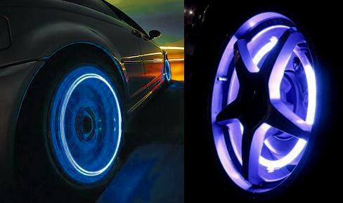 B0021 Tire Flash Light Tyre Wheel Led Valve Cap Stem Light