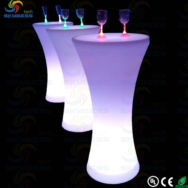 Sk lf25 led illuminated cocktail table for Cocktail tables led